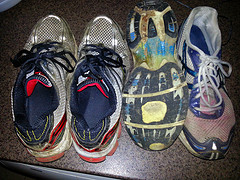 Some of the spoils of my running streak - my shoes