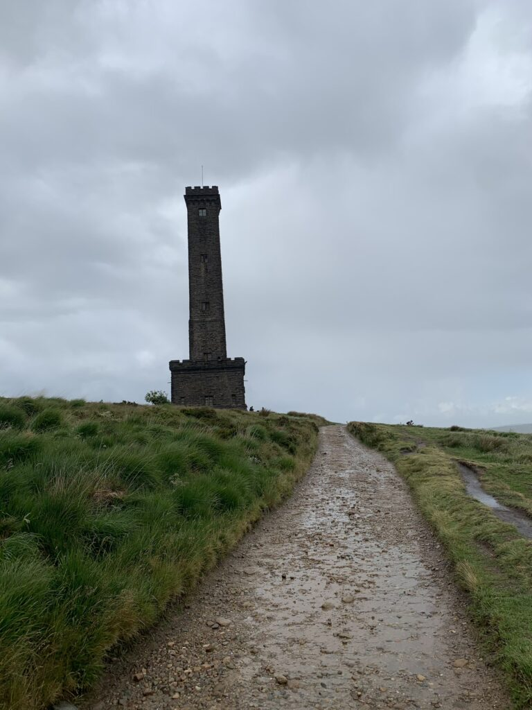 Approach to Peel Tower
